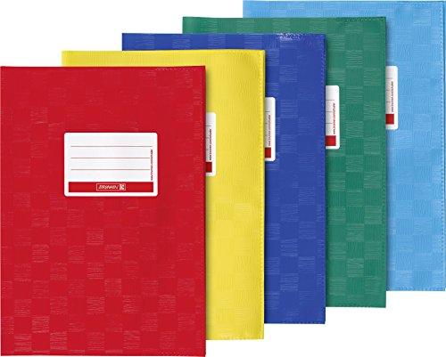 Brunnen 104059395 Hefthülle A5, 5er Pack, gelb/rot/hellblau/dunkelblau/dunkelgrün