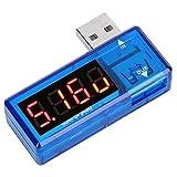 Tomantery Probador de Voltaje Probador de Voltaje de Corriente Detector USB para fábricas para usuarios(Blue)