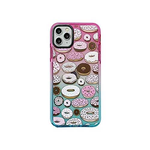 Donuts - Carcasa para iPhone 12, diseño de Donuts rosa para iPhone X XR XS se 2020 7 8 Plus 12 11 11 Pro Max Soft TPU silicona parachoques transparente – Donuts for iPhone 7 (8)