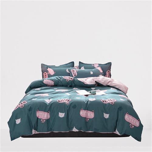 Ropa De Cama Textiles para El Hogar Funda Nórdica Estampada Funda De Almohada Juego De 4 Piezas Cómodo Y Transpirable 220x240cm