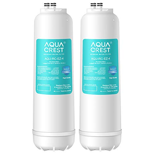 AQUACREST RC 4 EZ-Change Premium Water Filtration Replacement Cartridge, Replacement for all Culligan EZ Change Water Filter Systems, including RCEZ-4, IC-EZ-4, US-EZ-4, RC-EZ-3, RC-EZ-1 (pack of 2)