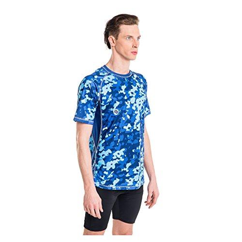 Nessi T-Shirt MK Fitness T-Shirt de Course à Manches Longues Respirant Blue Splash XL 01 Blue Splash