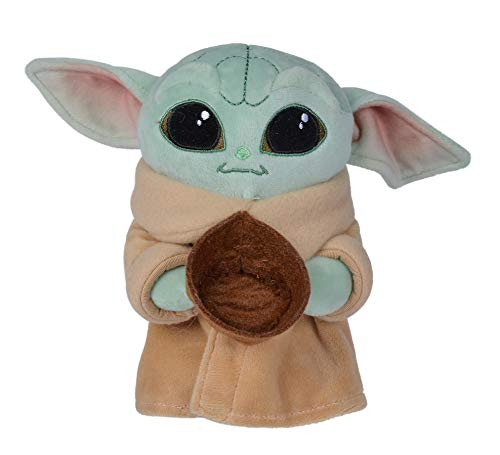Simba - The Child Baby Yoda 17 cm Plush Toy with Accessory, 3 Models Available: With Frog, Bowl or Ball, Official Disney Licensed, For All Ages, Multi-Colour (6315875789)