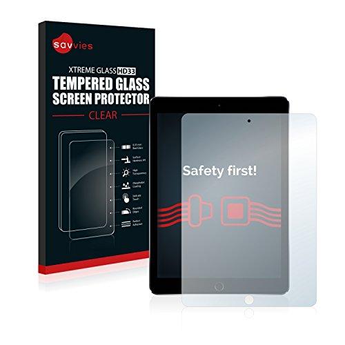 savvies Protector Cristal Templado Compatible con Apple iPad Pro 9.7' WiFi 2016 Protector Pantalla Vidrio, Protección 9H, Pelicula Anti-Huellas