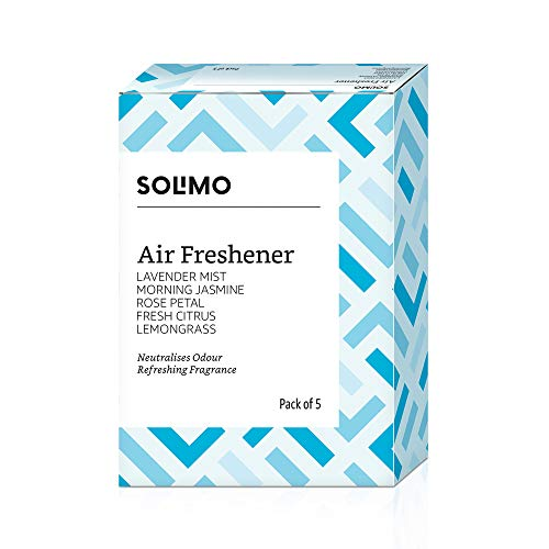 Amazon Brand - Solimo Air Freshener Pocket, Assorted Pack of 5