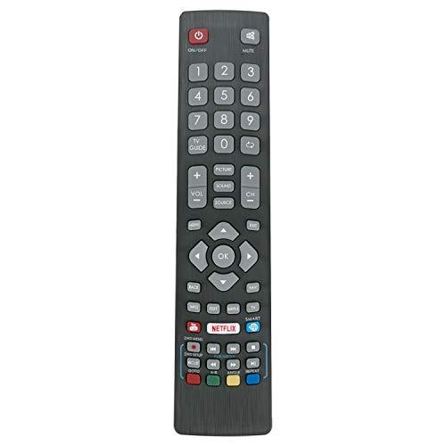 VINABTY BLFRMC0008 - Telecomando di ricambio per TV Blaupunkt Full HD Smart LED 3D con pulsanti NETFLIX YouTube 3D