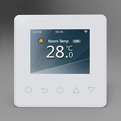 Raumthermostat ET81W für elektr. Fußbodenheizung mit TWIN-Technologie - Steuerung über Smartphone - Farbe wählbar, Farbe:Schwarz