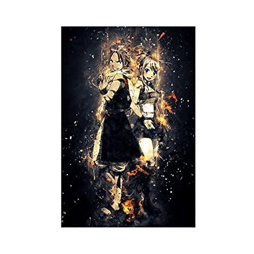 Fairy Tail Poster Etherious • Natsu • Dragneel 21 Toile Poster Décoration Murale pour Salon Chambre à Coucher Sans Cadre 40 × 60 cm