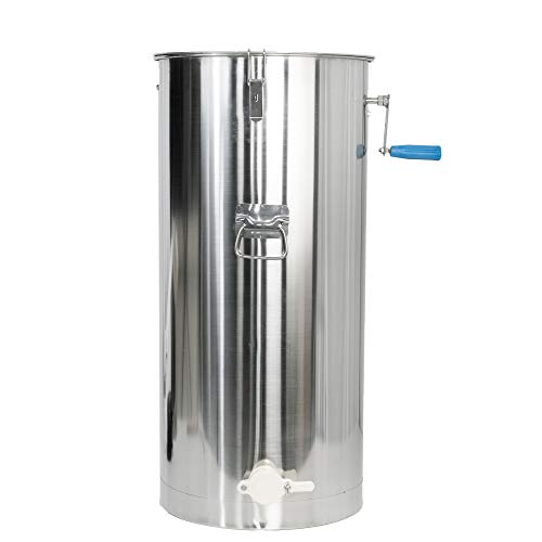 VIVO 2 Frame Stainless Steel Manual Crank Bee Honey Extractor, SS Honeycomb Spinner Drum (BEE-V002C)