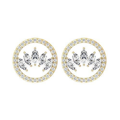 Rosec Jewels - 18 Karat Gelbgold Markise Runder Brilliantschliff Leicht Getöntes Weiß/Top Crystal (I) Diamant
