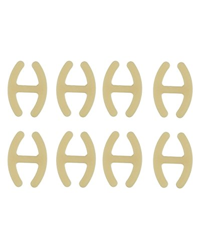 com-four® 8X BH H Clip - zum Verstecken und Verkürzen der BH-Träger in beige (08 Stück - Beige)