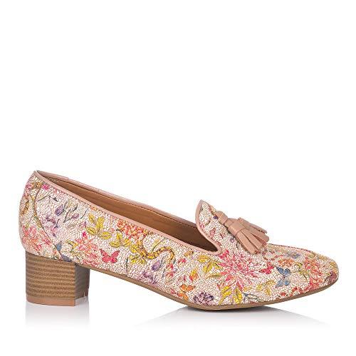 MARIA JAEN 8018 Zapato BORLAS Estampado Mujer Caoba