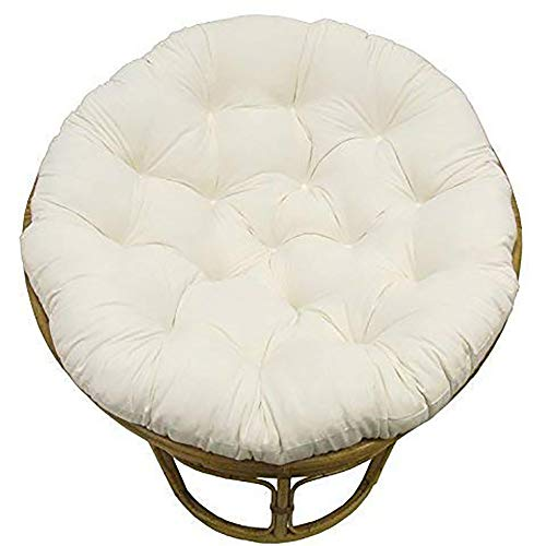 TOPYL Papasan Chair Cushion,Hanging Chair Seat Cushion Hanging Chair Pad Thicken Round Chair Pad,Sink Into Our Comfortable and Oversized Papasan White 50x50cm(20x20inch)