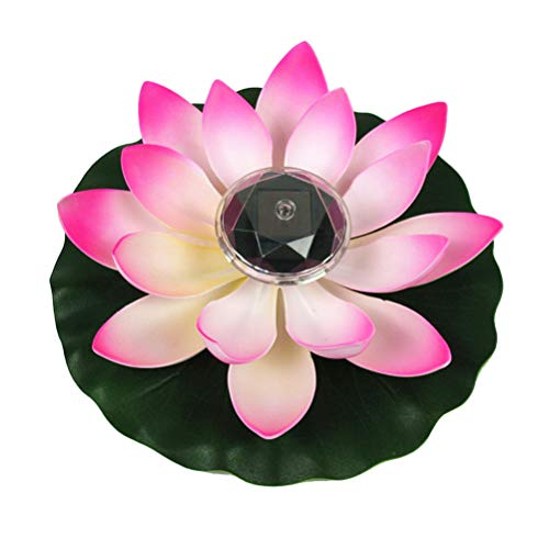 OSALADI Angetriebenes dekoratives Licht LED bunte Lotus Flower Lamp für Pool-Landschaft