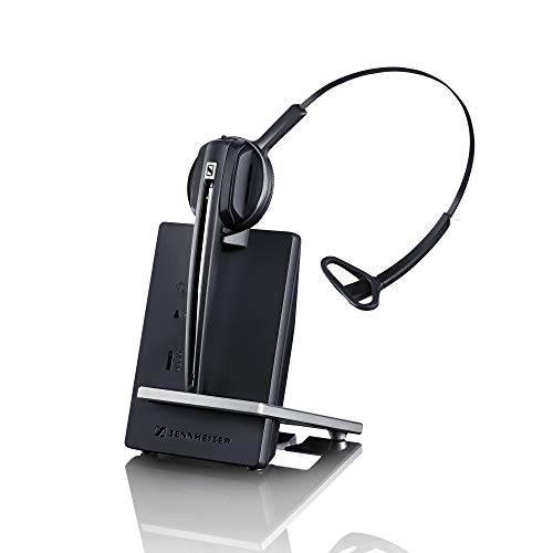 Sennheiser D 10 USB ML - US (506418) Single-Sided Wireless DECT Headset, with Direct Softphone Connection, Noise Cancelling Microphone, and is Skype for Business Certified (Black)