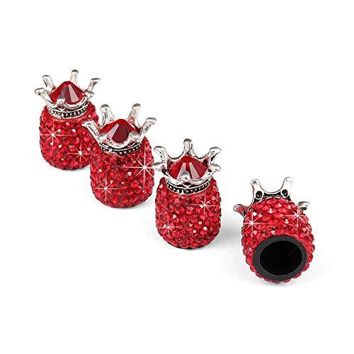 KKmoon Tapas de Válvulas de Neumáticos,Tapones Rueda Coche Diseño Creativo Corona imperial