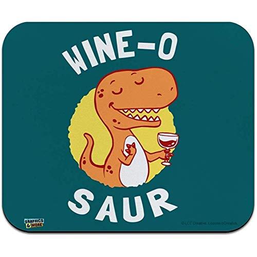 Gjid Wine O Saur dinosaurus Amante van de wijn Grappige humor muismat met laag profiel