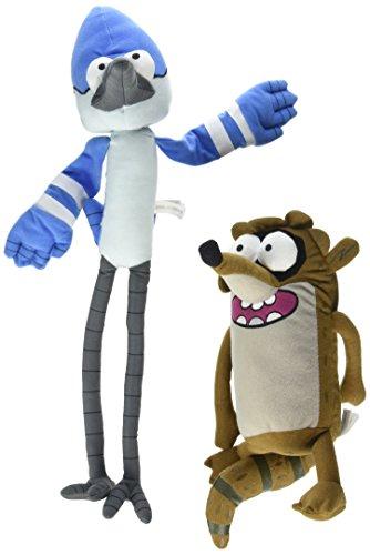 "Regular Show Cartoon Network 12"" to 18"" Plush Set - Rigby and Mordecai"