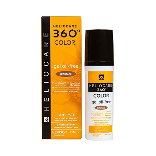 Heliocare 360º Color Gel Oil-Free SPF 50+, Bronze, 50 Mililitros