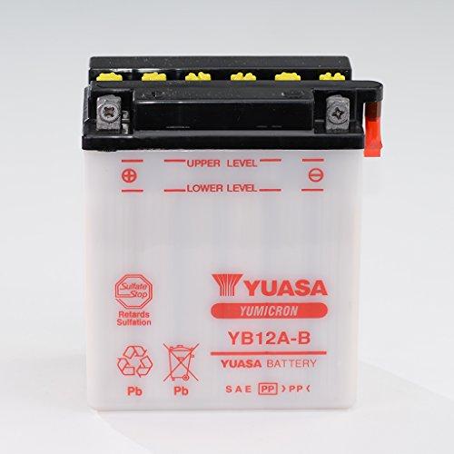 Preisvergleich Produktbild Batterie 12V 12AH YB12A-B Blei-Säure Yuasa 51215 ohne Säurepack Leonardo 125 TB CB 450 S PC17 GB 500 Clubmann PC16 XBR PC15 XL 600 V Transalp PD06 PD10