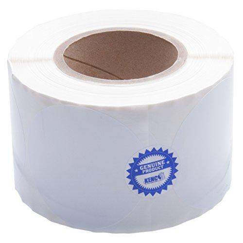 Kenco Tintenstrahl-Etiketten für Tintenstrahldrucker, hochglänzend, 8,9 cm, kompatibel mit Primera Color Label Druckern und vielen anderen Druckermarken Lieferung 775 Etiketten auf einem 7,6 cm Kern