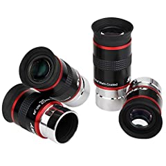 Super wide 68 degree apparent field of view;gets broad field observations for amazing observing experience Fully multi coated lens;broadband green film optical glass increases light permeability for sharp images Multi-element design delivers sharp im...