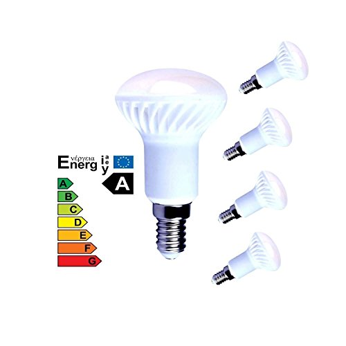 Lampaous 4er Pack R50 LED 5W E14 Reflektorlampe LED R50 Leuchmittel Keramik 400lm Kaltweiss 6000K