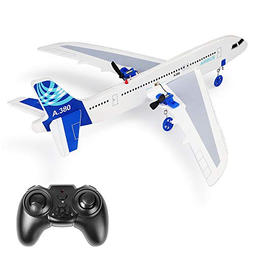 YSTFLY Remote Control Airplane A380 DIY Model Plane, 2.4Ghz RTF RC Plane Ready to Fly, RC Aircraft for Kids & Beginner