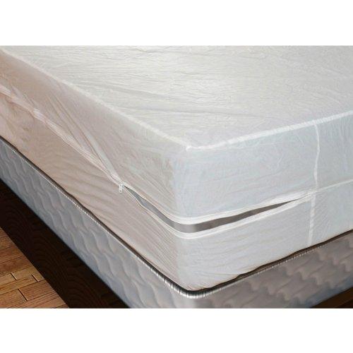 Shop Bedding Plastic Mattress Protector Zippered Full, Waterproof Vinyl Mattress Cover, Heavy Duty Mattress Encasement by Royal Mystique