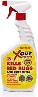 Xout Anti Bed Bug Spray, Kills Bed Bugs and Dust Mites, Eggs and Larva on Contact, Safe Around Children and Pets (16 Fluid Ounce)