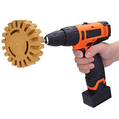 Ecystostc Drill Bits Tool 4 Inch Rubber Decal Eraser Caramel Wheel Removal with Power Drill Arbor Drill Adapter Multifunction Drill Bits
