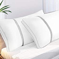 【Get a Good Night's Rest】- Ergonomic design and reasonable height, cushioning your head and neck under gentle support. Surrounding yourself with the soft pillows for a better night's rest. Perfect for neck, shoulder pain sufferers. Note: Without Cove...
