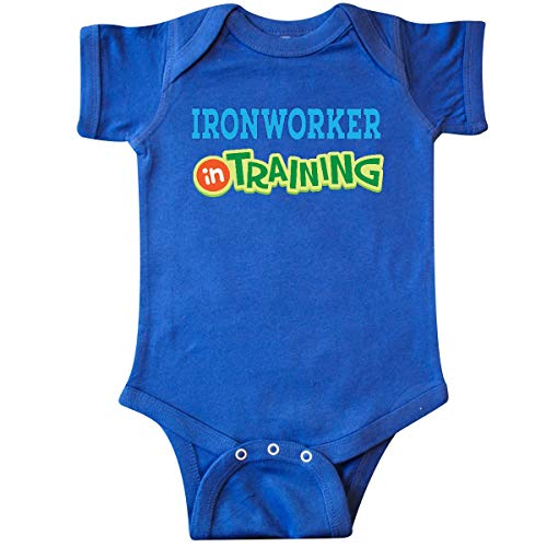 inktastic Future Ironworker in Training Infant Creeper 24 Months Royal Blue