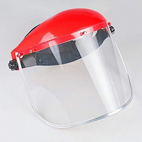 Urisgo Maschera di Sicurezza Elmetto da Giardino con Visiera apribile Maschera Viso antisplash Schermo Protettivo Protezione per Visiera montata sulla Testa