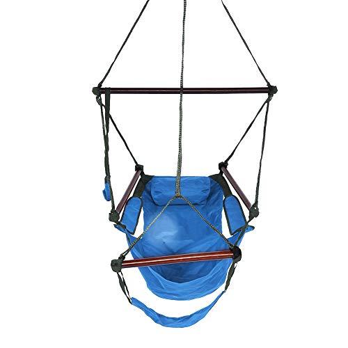 Demeras Nylon Hammock Swing Portable Nylon Hammock Single & Double Rollover Prevention Hammocks for Camping Hiking Backpacking(Blue)