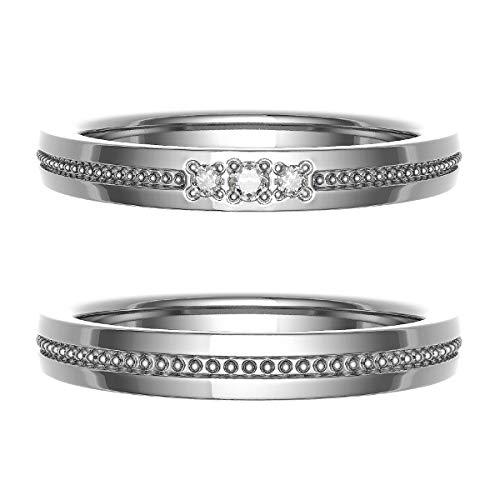 [ココカル]cococaru ペアリング 結婚指輪 K18ゴールド 2本セット マリッジリング ダイヤモンド 日本製(レディースサイズ15号 メンズサイズ19号)