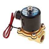 YUQIYU Válvula electromagnética eléctrica uso con tuberías en agua, aplicaciones de aire y el diesel