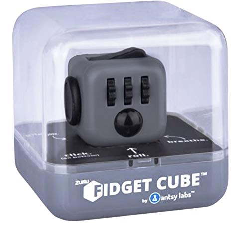 ZURU Fidget Cube by Antsy Labs - Graphite Grey Fidget Cube with Black Accents