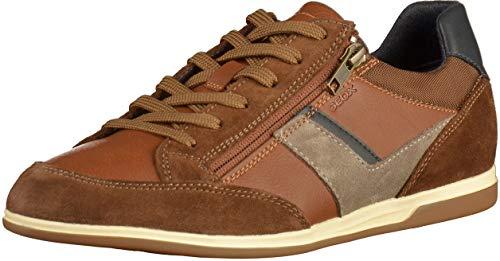 Geox Herren U Renan C Sneaker, Braun (Browncotto/Navy C6gf4), 42 EU