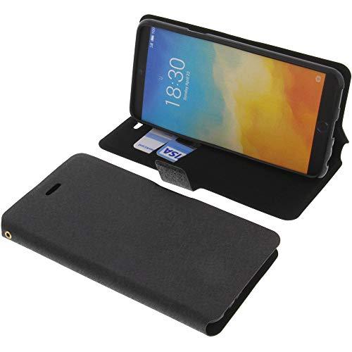 foto-kontor Tasche für Meizu M15 Book Style schwarz Schutz Hülle Buch