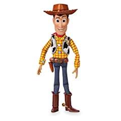 Pull string to hear phrases including ''Trash? You're not going in the trash,'' ''Operation pull-toy,'' and ''Hang on, little guy'' Includes interactive feature so when Woody detects another Toy Story interactive action figure nearby it triggers phra...