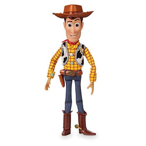 Disney Woody - Figura de acción parlante - Toy Story 4 - con más de 10 Frases en inglés - Apto para Mayores de 3 años Woody