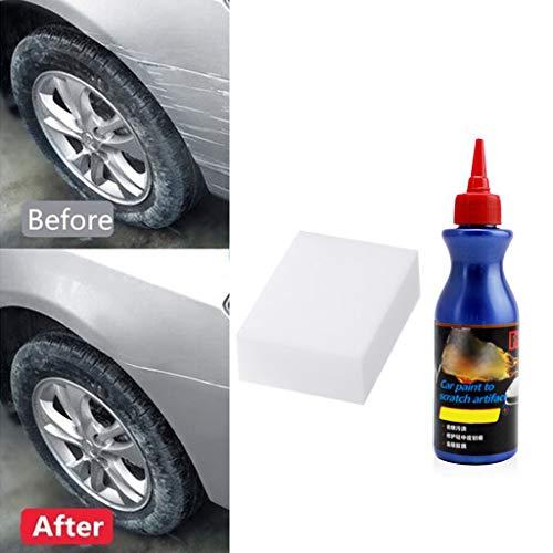 Preisvergleich Produktbild Kratzer Entferner für Auto Body, Car Compound Paint Care Maintenance Wax Reparatur Reiniger Grinding Polishing Liquid mit 1 x Schwamm VNEIRW (A-100ML)