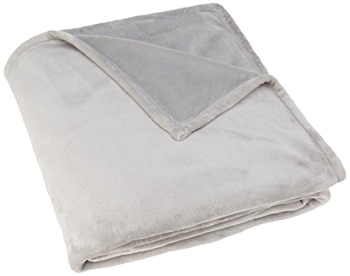 TOISON D'OR Couverture microvelours 320 GR/m², 100% Polyester, Perle, 180X220 cm