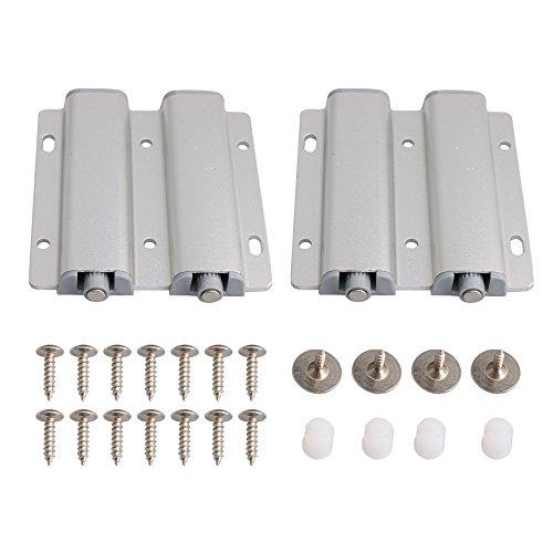 14x8.3cm Zweitürige Schranktürschublade zu öffnen System Dämpfer Buffer Catch Latch Magnetische Packung von 2