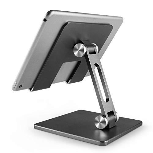 NKLL Soporte de la computadora Tablet PC Soporte aleación de Aluminio Plegable Tableta Soporte Ajustable iPad computadora Perezoso Escritorio Soporte para Escritorio (Color : Black)