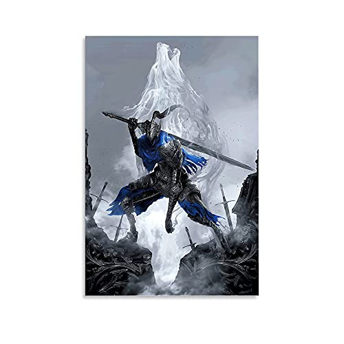 Poster de jeu animé Artorias Dark Souls sur toile et décoration murale - 30 x 45 cm