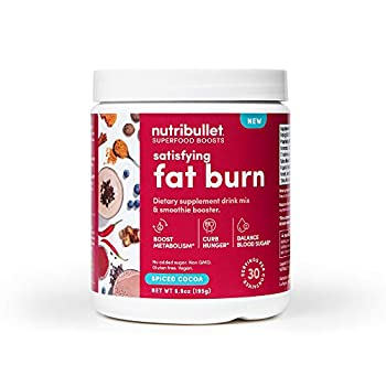 NutriBullet Superfood Boosts Satisfying Fat Burn Spiced Cocoa, 30 Serving Tub 6.8784 Oz