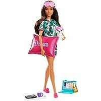 Barbie- Bienestar, dulces sueños muñeca con accesorios (Mattel GJG58)