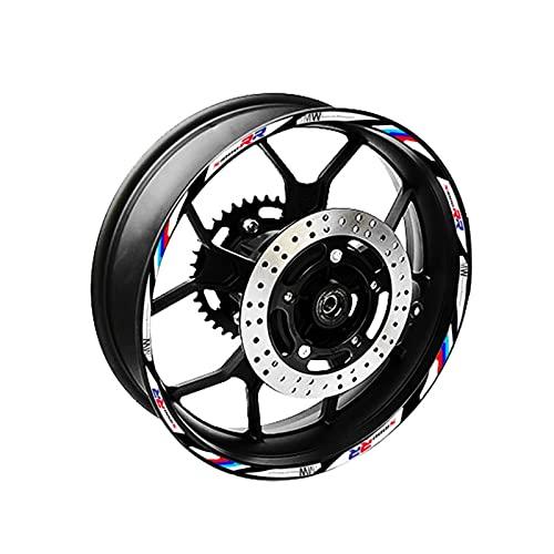 Decal de rayas de llanta de rueda Accesorios de la motocicleta Pegatina de hub de la rueda Calcomanías decorativas de la cinta de la cinta de la rima reflectante para B-M-W S1000RR Raya de la decoraci